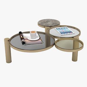 3D espuma coffee table
