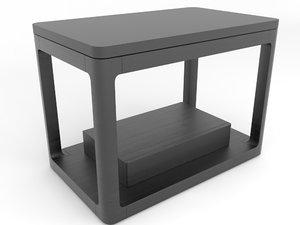 3D linea nightstand drawer model