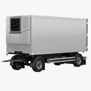 3D model axle refrigerator trailer