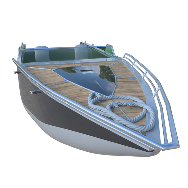 motor boat 3D
