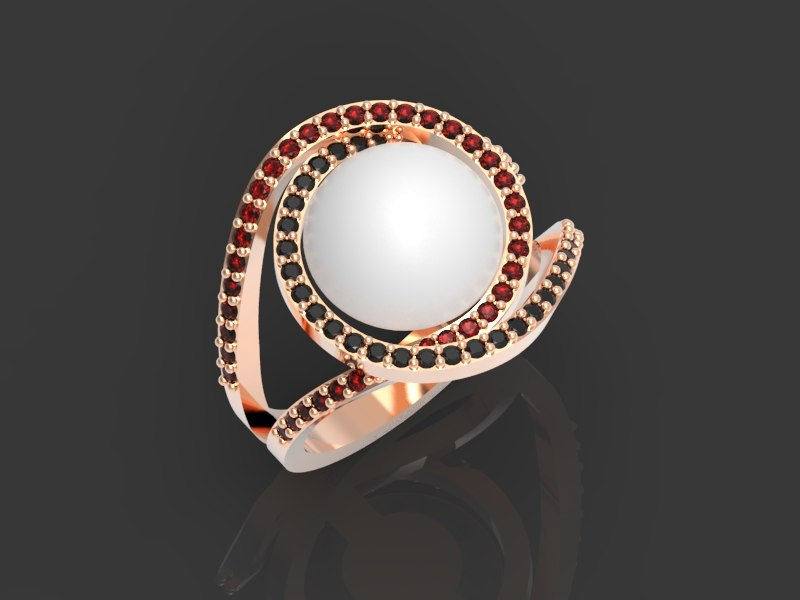 3D ring pearl
