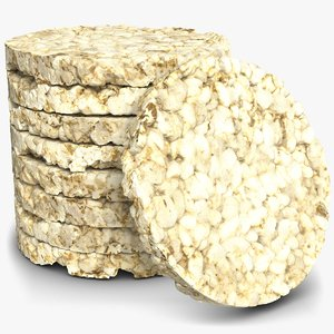 puffed rice bread pack 3D model