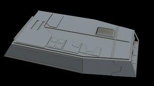 3D model starship star
