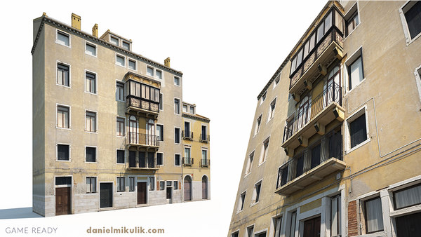 old building facade 3D model
