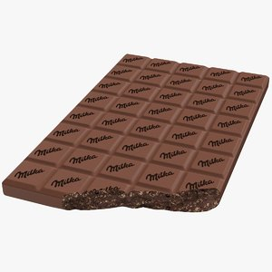 chocolat crunch bar 3D model