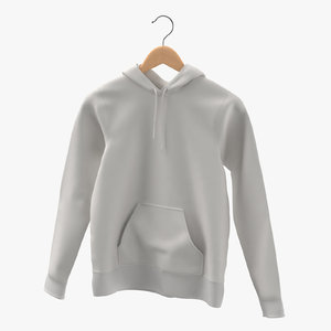 female fitted hoodie hanging model