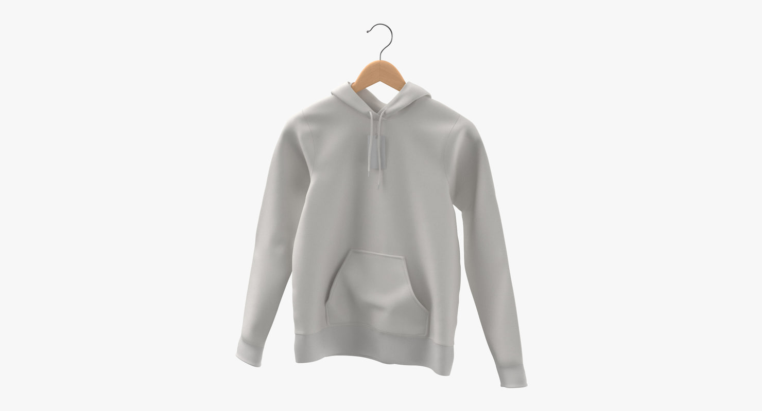 female fitted hoodie hanging 3D model