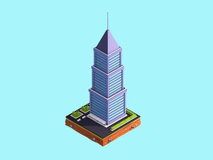 3D model cartoon skyscraper