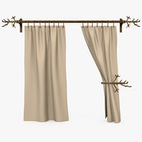 3D realistic curtain holder model