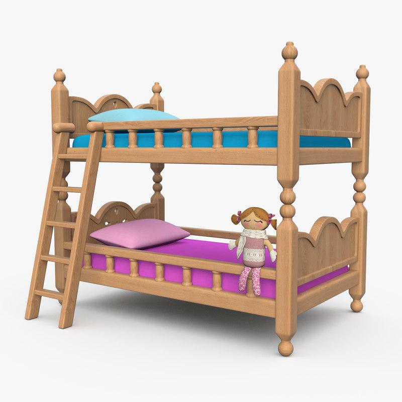 3D bed double floor