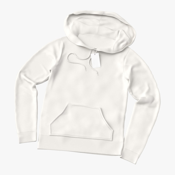 female fitted hoodie laid model