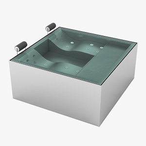 3D model whirlpool pool
