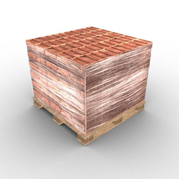 bricks pallet 3D model