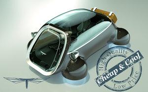 hover car 3D