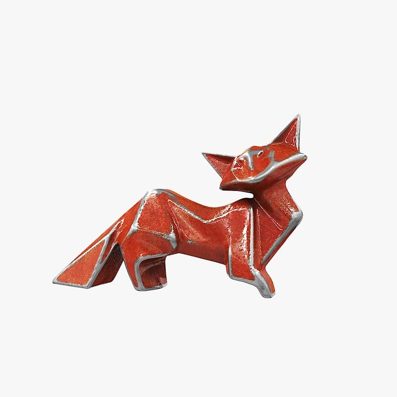figurine fox 3D model