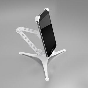 modern smartphone holder mobile phone 3D