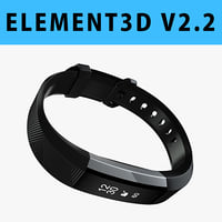 E3D - Fitbit Alta HR Black Steel model