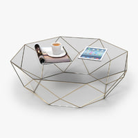 3D octagon coffee table