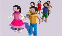 3D kids origami