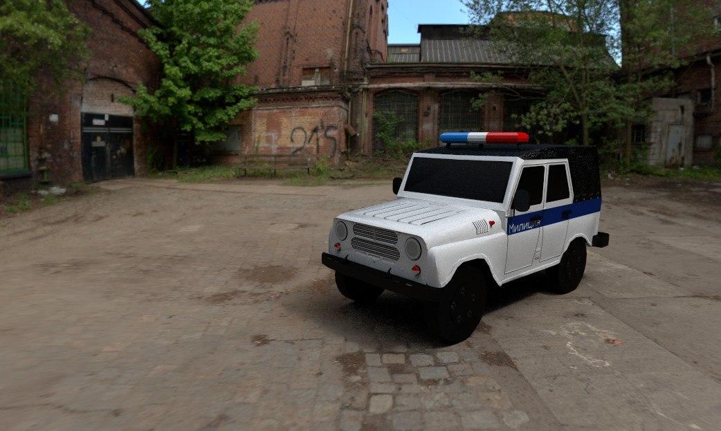 uaz 469 police 3D