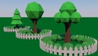 origami trees model