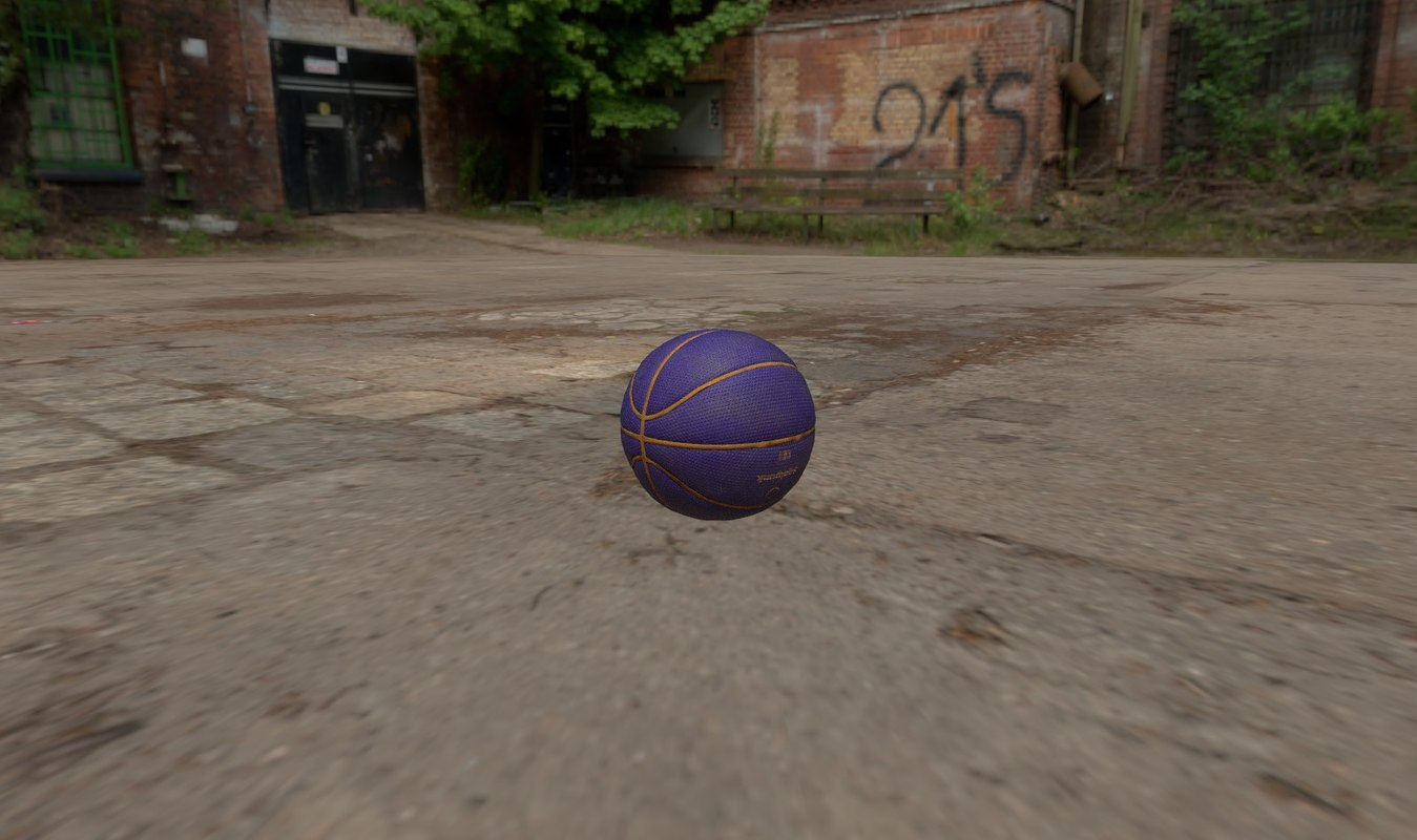 purple ball 3D model