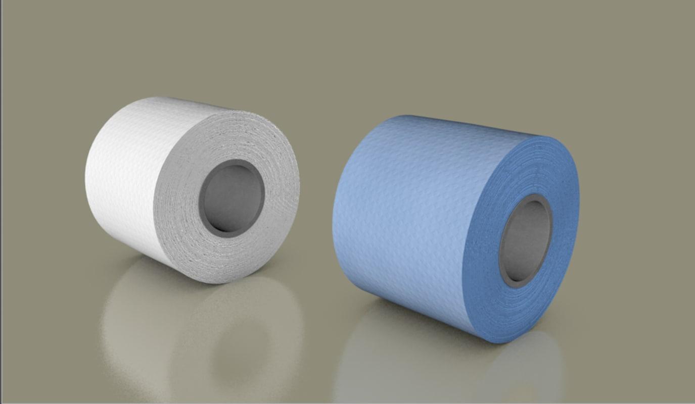 tissues roll 3D model