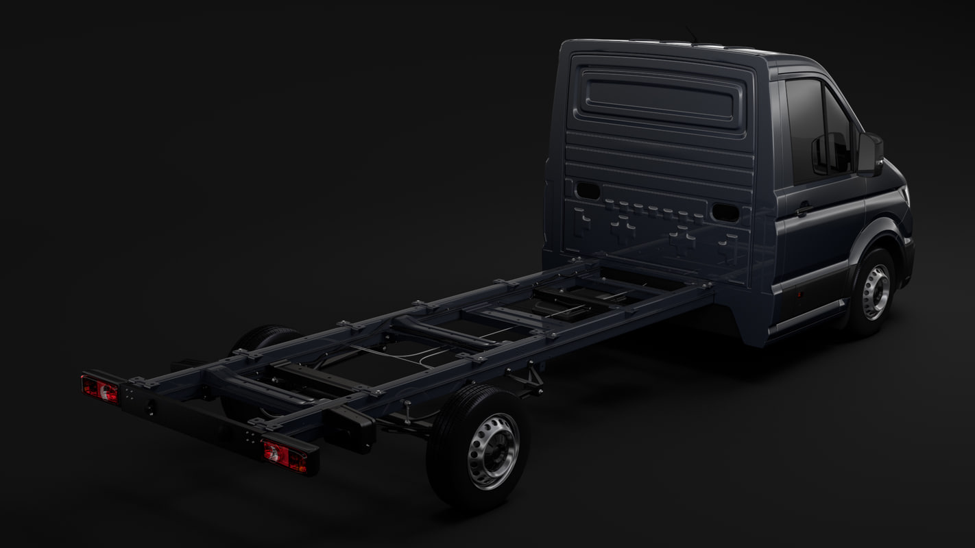 wv crafter chassis singlecab 3D model