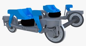 jacobs bogie 3D model