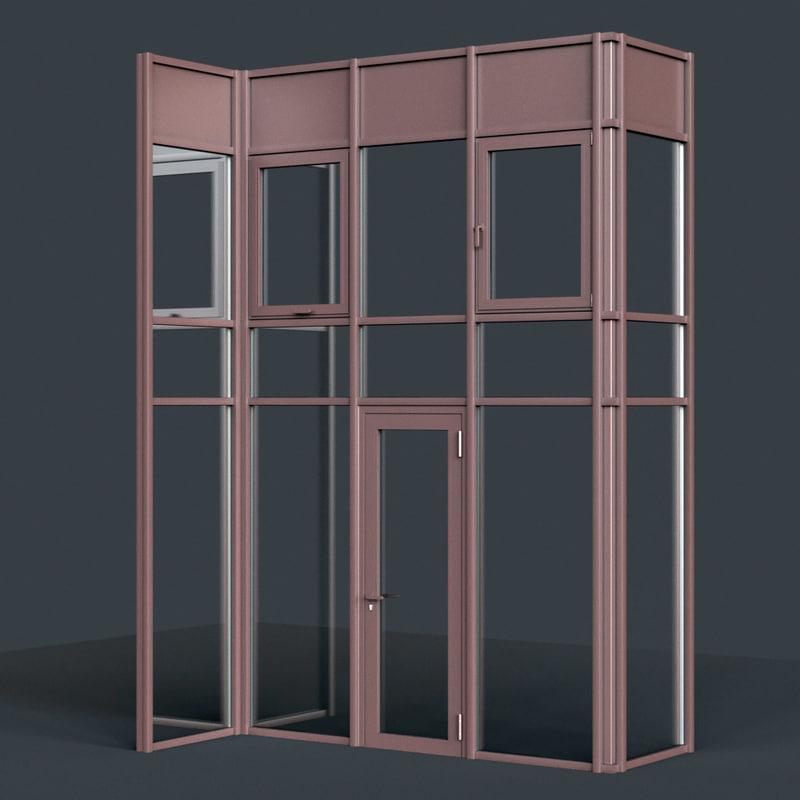 curtain wall facade 3D model