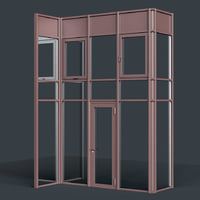 curtain wall facade 3D model