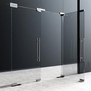 fittings glass doors 3D model