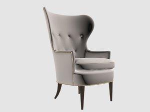 3D club chair edward wormley