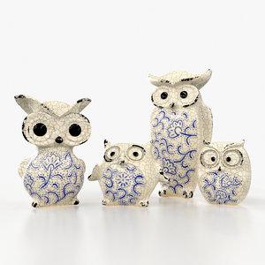 ceramic owl model