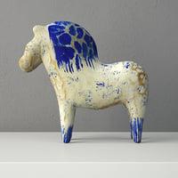 3D swedish dala horse model