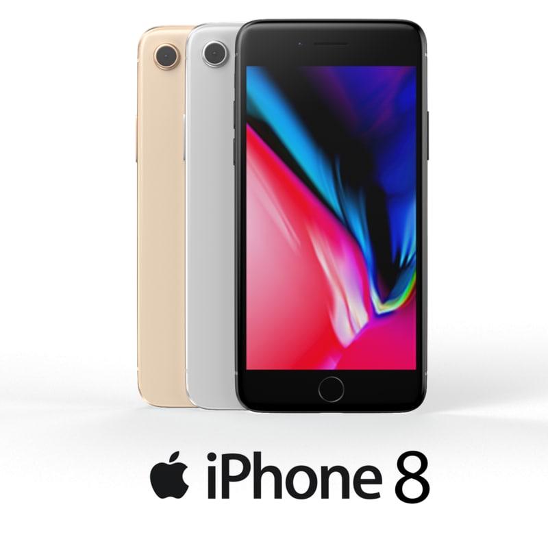 3D model iphone 8