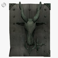 3D doorknocker goat door model