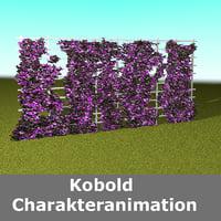 3D hedge climbing plant model
