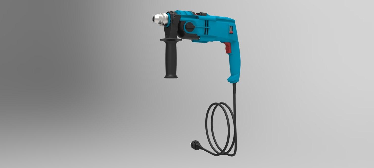 3D model drill machine