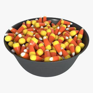 bowl candy corn 3D model