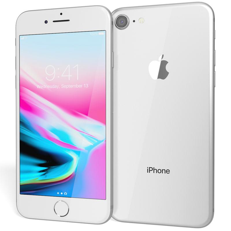 3D realistic apple iphone 8 model