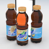 beverage bottle nestea peach 3D model