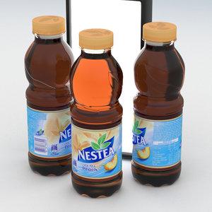 beverage bottle nestea peach 3D model