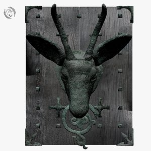 3D doorknocker door model