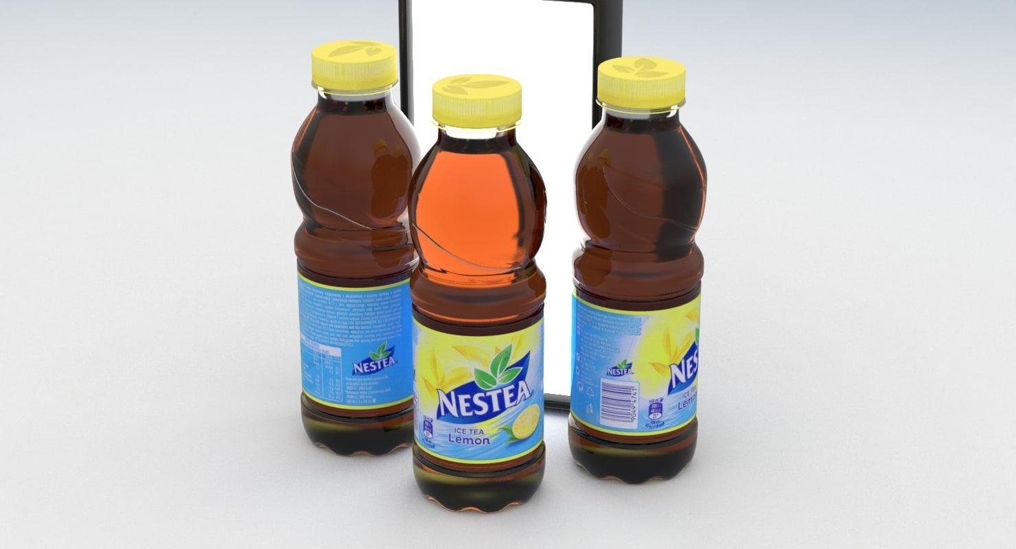 Beverage Bottle Nestea Lemon Model Turbosquid 1202200 Tea