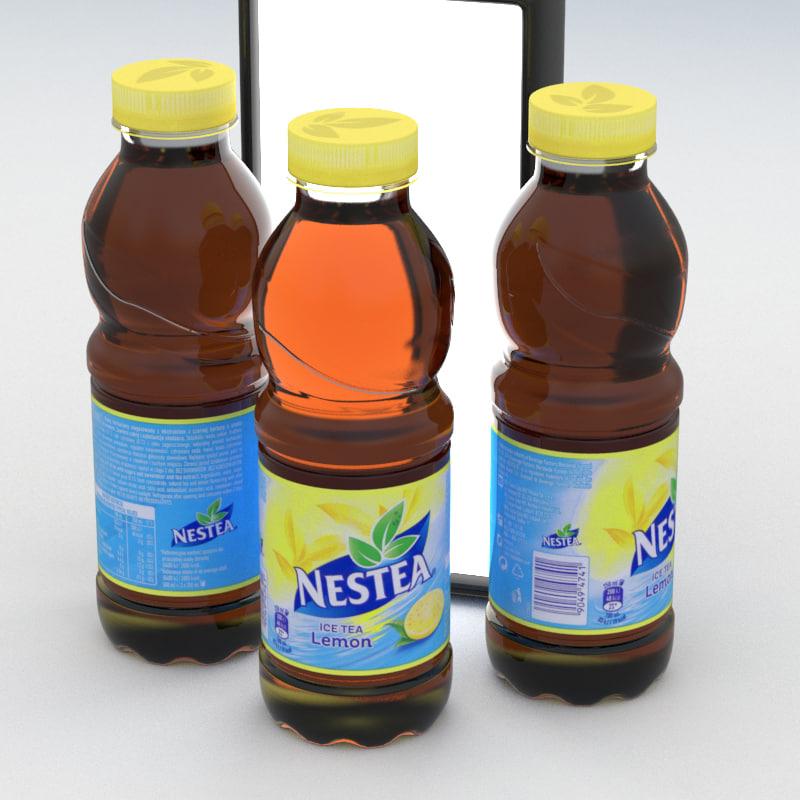 beverage bottle nestea lemon model