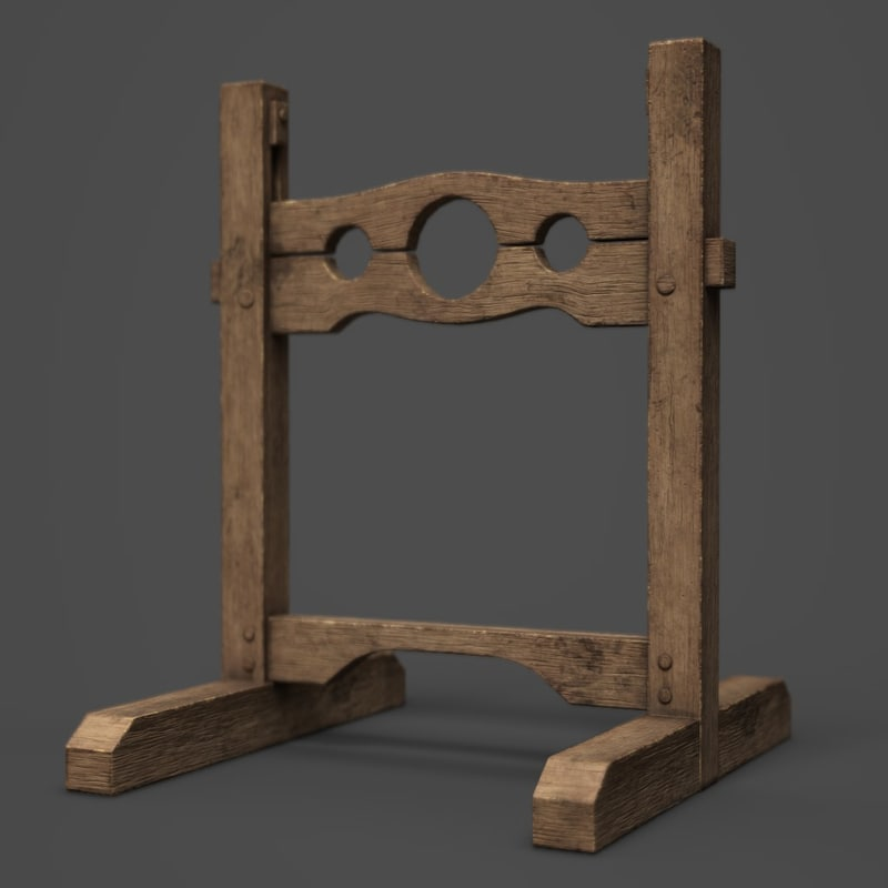 medieval stocks 3D model