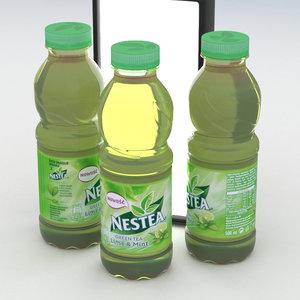 beverage bottle nestea green tea 3D