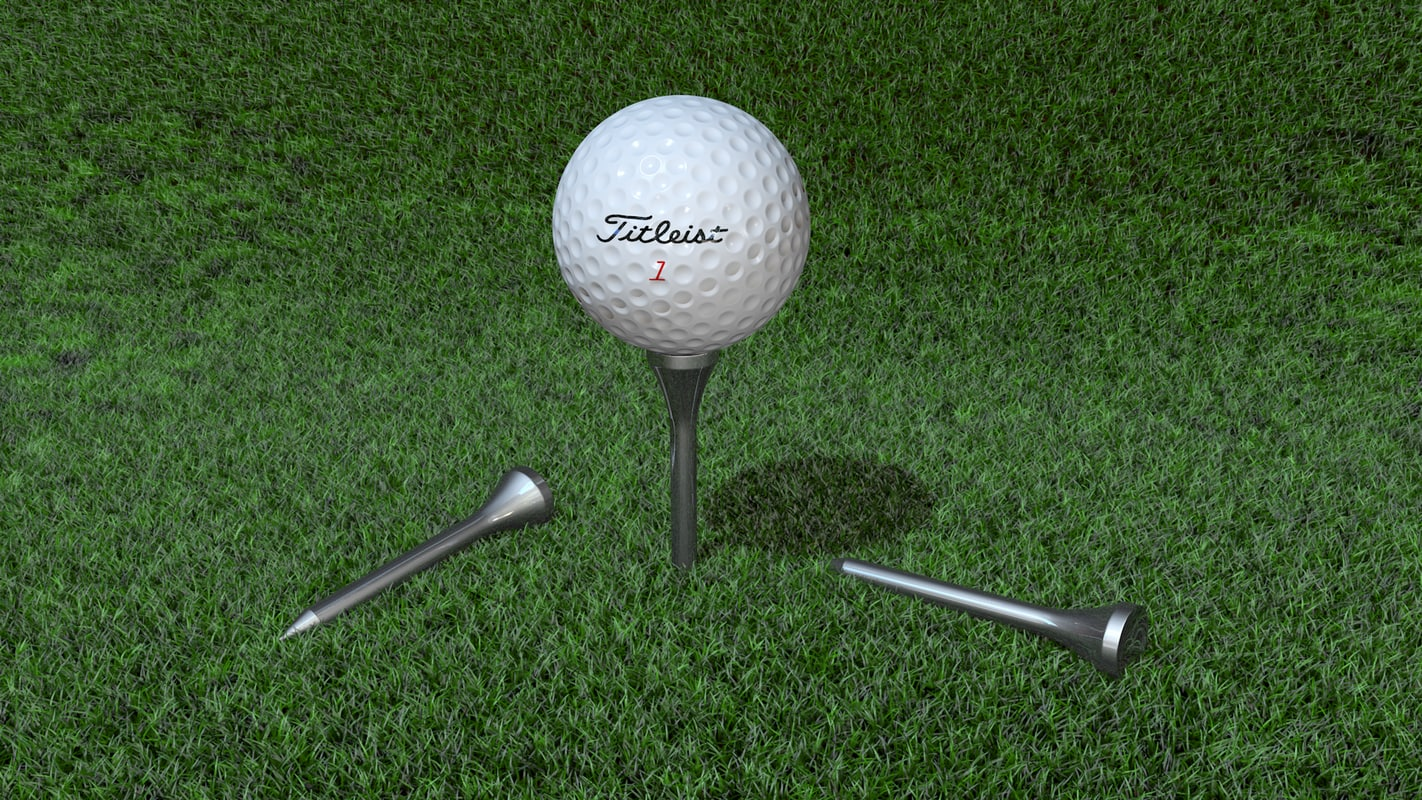 3D golf ball tees model