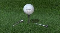 3D golf ball tees model